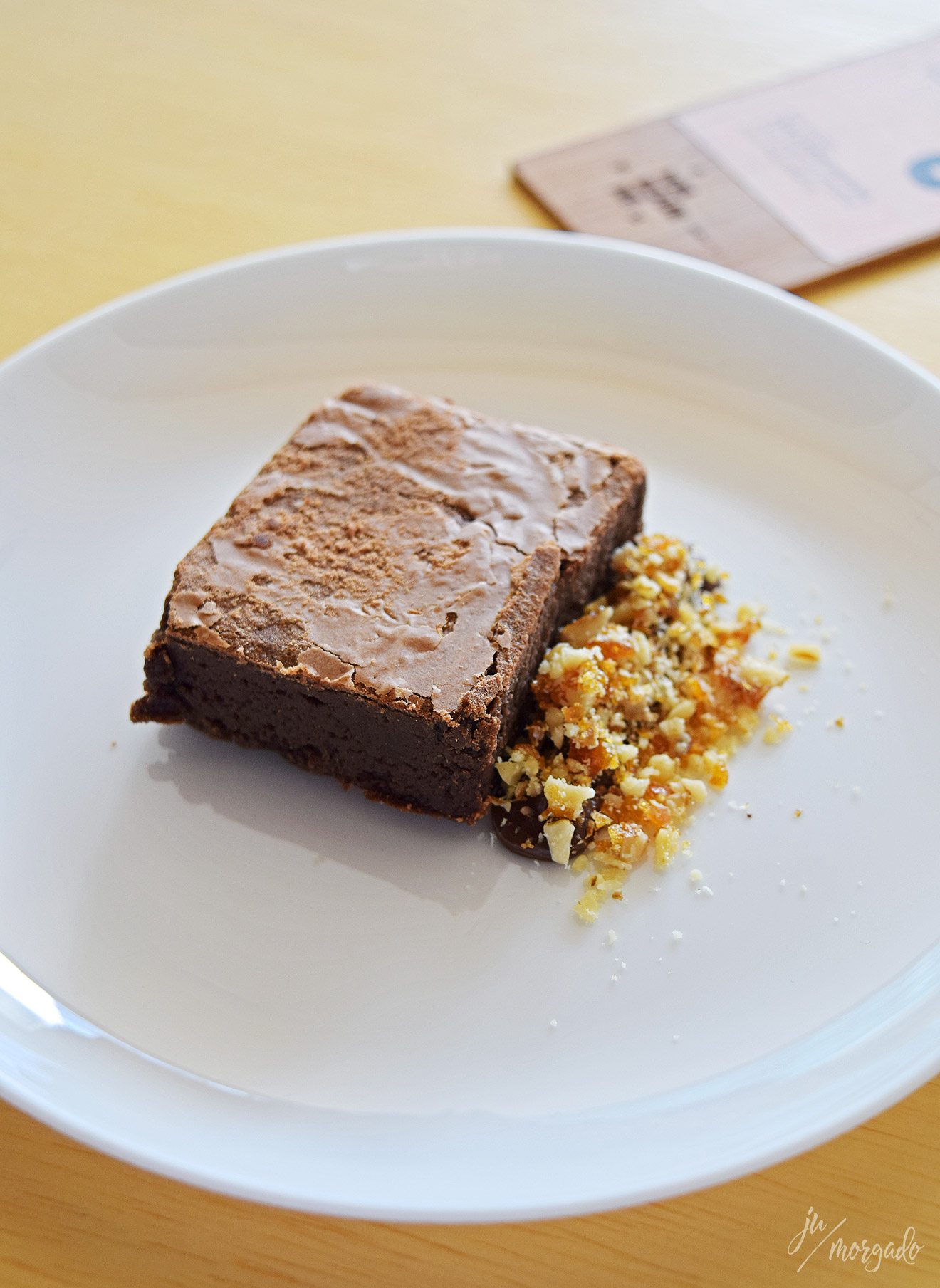 Brownie com ganache e nozes carameladas do Melbourne