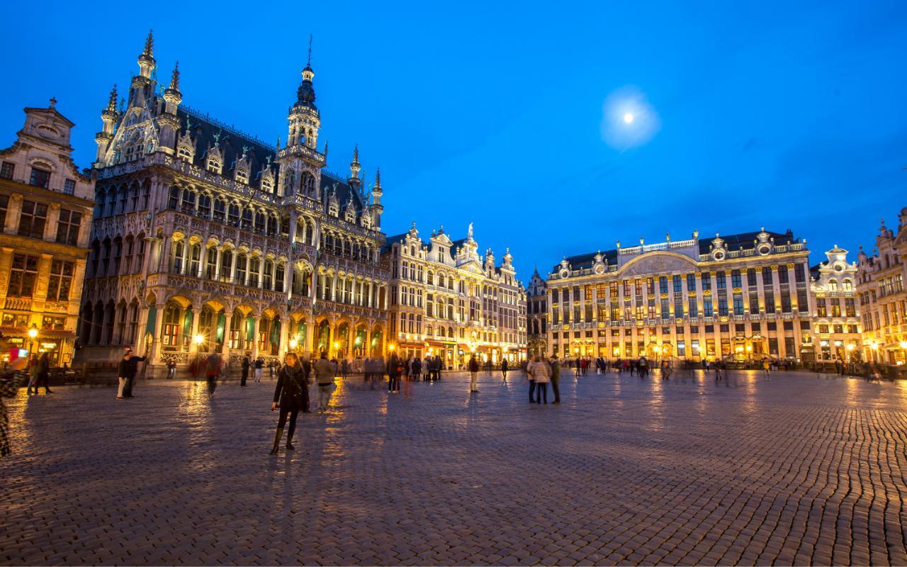 Praça em Bruxelas, na Bélgica.