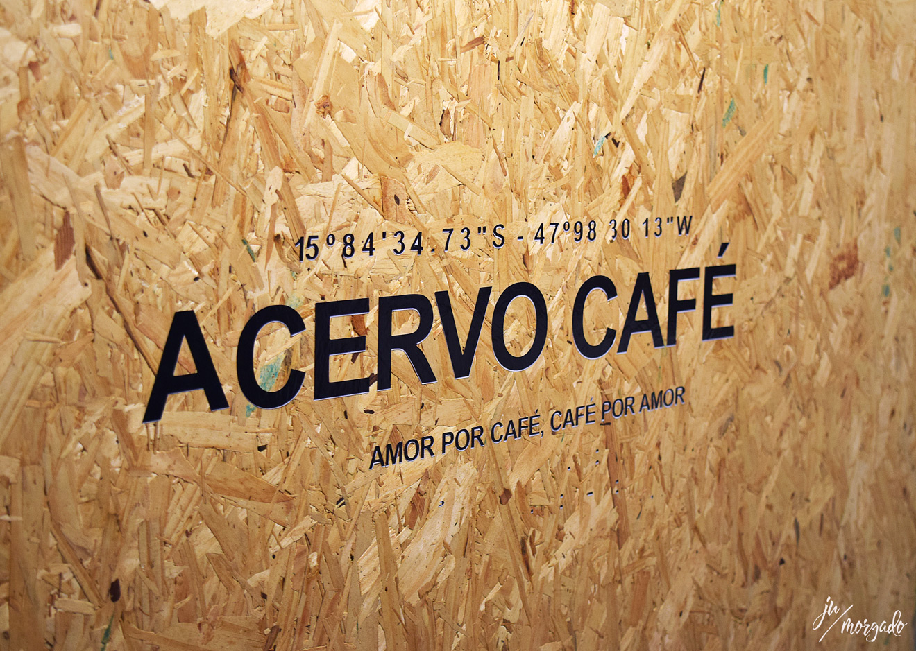 Placa de entrada do Acervo Café