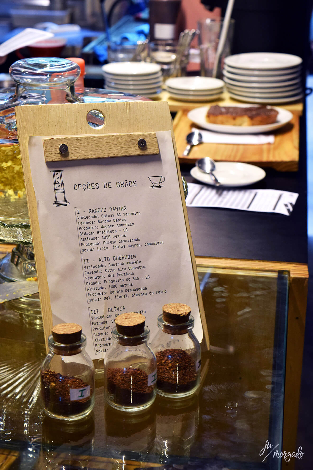 Cardápio de grãos disponíveis do KOF em São paulo.